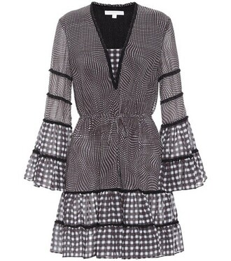 dress checkered black