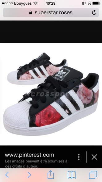 shoes roses superstar adidas