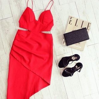 dress maxi dress prom dress boho dress red dress heels shoes tumblr girl girly sexy sexy dress bodycon dress bag style