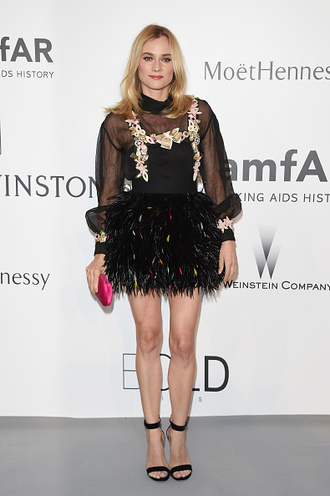 dress feathers diane kruger sandals