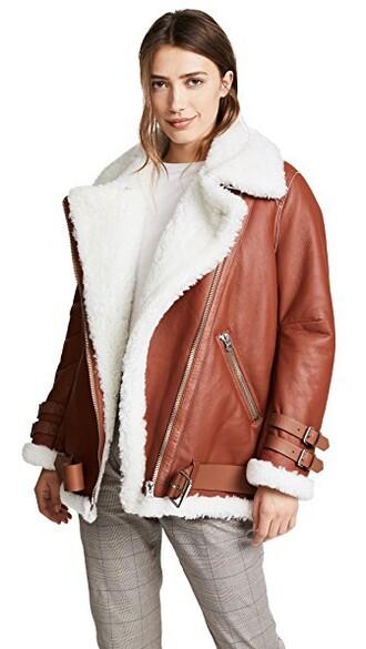 jacket white brown