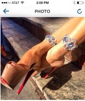 shoes,nude high heels