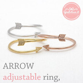 jewels,jewelry,ring,adjustable ring,arrow,anchor ring,arrow head ring