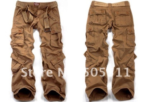 Matchstick brand original 100% cotton men's cargo pants loose ...