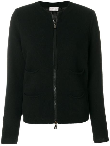 moncler cardigan cardigan women black wool sweater