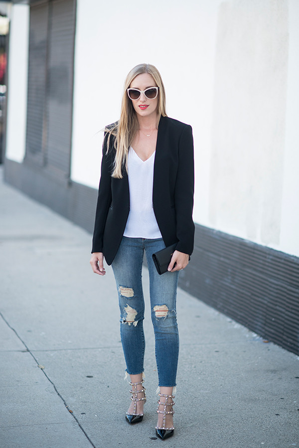 eat sleep wear blogger shoes jacket jeans