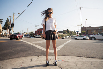 fashion toast t-shirt skirt shoes bag sunglasses