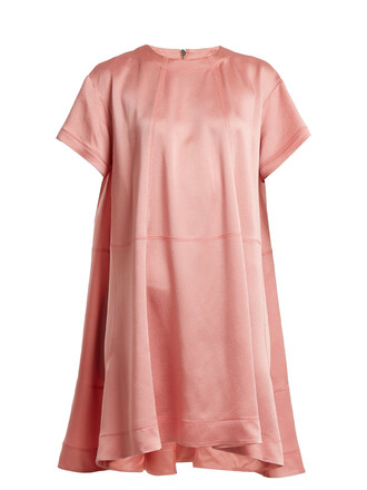 dress short satin pink