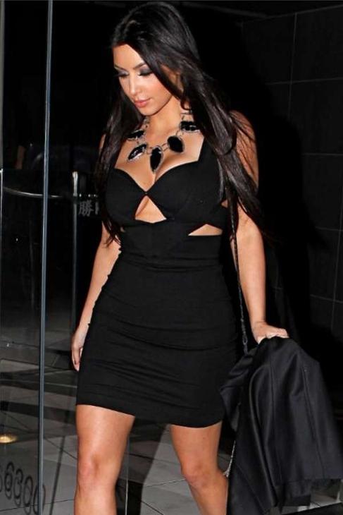 Sena cut out dress in black