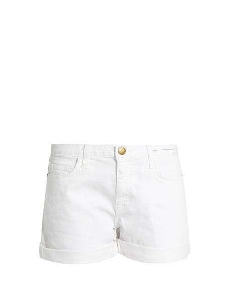 Current/Elliott shorts boyfriend white