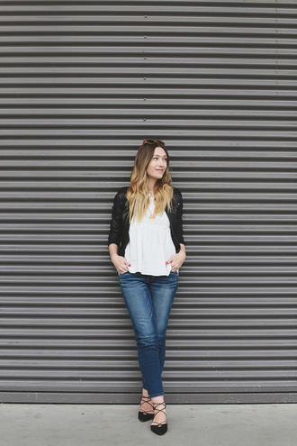 girl and closet blogger jacket top jewels jeans