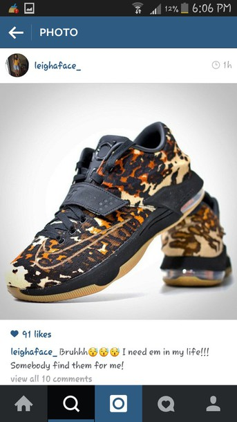 shoes kevin durant leopard print lebron sneakers