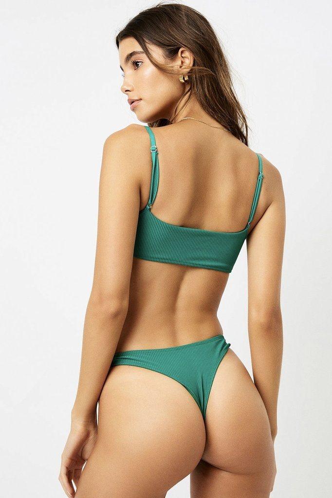 Frankies Bikinis Boots Bottom in Emerald
