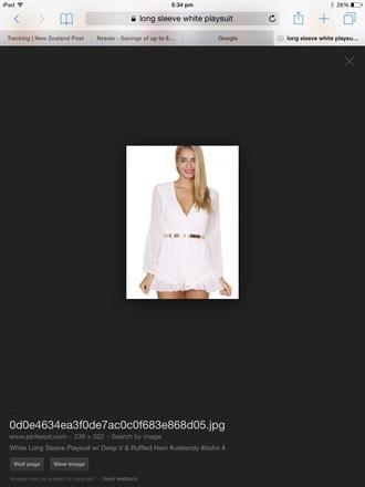 romper white gold chiffon silk silky pretty cute girly formal