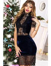 dress,zefinka,lace dress,guipure,velvet