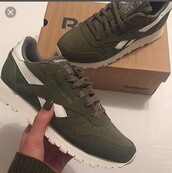 shoes,Reebok,classic,leather,green