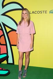 shoes,dress,gwyneth paltrow,suede,sandals