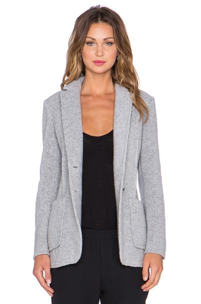 blazer knit wool