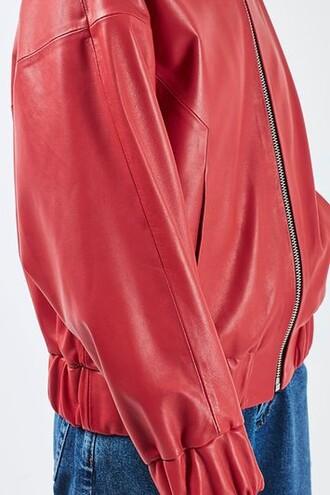 jacket bomber jacket red