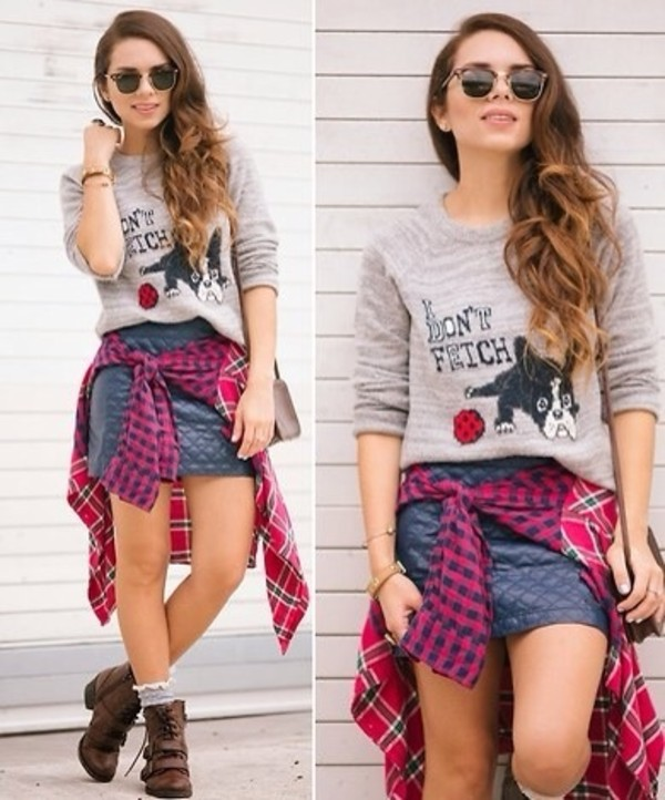 t-shirt blouse skirt