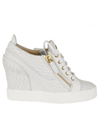 sneakers crocodile wedge sneakers shoes