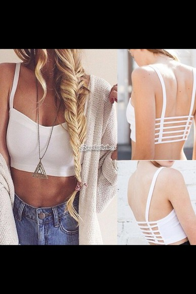 shirt tank top crop tops bustier bralette cute top birdcage top cute outfits white cut out top white bralette bra top white shirt