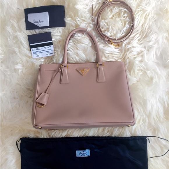 40% off Prada Handbags - Prada Cameo/cammeo Lux Saffiano double-zip bag  from Kimberly's closet on Poshmark