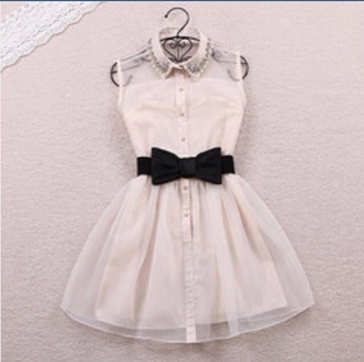dress white dress dark blue dress bow back dress