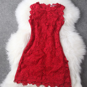 Stunning Red Embroidered Dress. | Trending Stylist