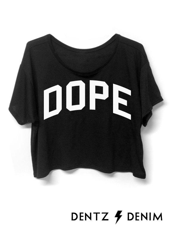 Dope  Crop Top by DentzDenim on Etsy
