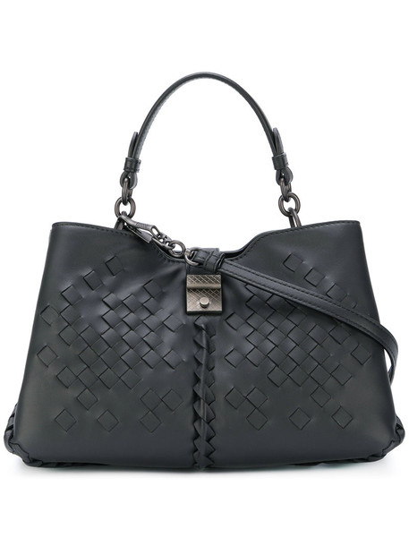 Bottega Veneta women handbag leather black bag