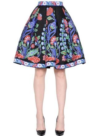 skirt jacquard floral