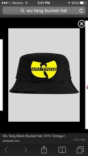 hat,black,wu-tang clan,bucket hat