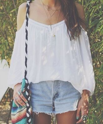 shirt pinterest tumblr tumblr outfit white white top gypsy gypsy-style top
