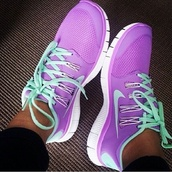 purple,lilac,bright sneakers,sneakers,nike,nike sneakers,mint,nike running,nike running shoes,shoes,nike free run,neon,trendy,help plz,low top sneakers,turquoise,pink,tiffany blue,nike free run 5.0,light purple,purple sneakers,lilac nikes,nike purple tiffany,nike purple,purple shoes