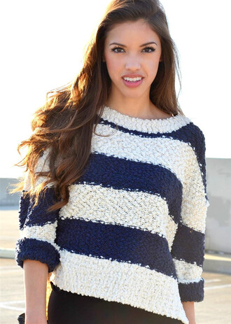 sweater striped sweater stripes stripe sweater blue white