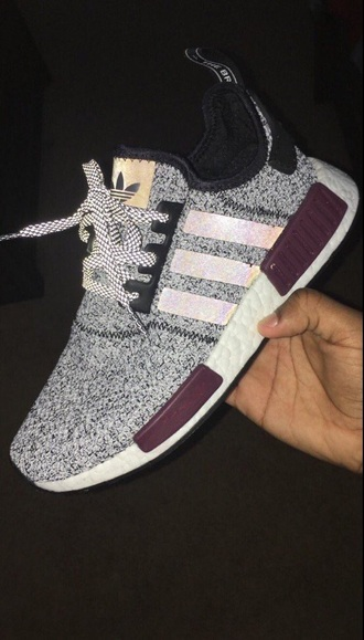 shoes adidas burgundy pink grey