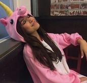 jumpsuit,onesie,cute,lovely,pink,tumblr,girly,unicorn,rainbow,shirt,pants,trendy,shoes,outfit,ootd,pajamas,pink unicorn onesies,zendaya,jacket