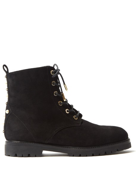 suede ankle boots embellished ankle boots suede black shoes