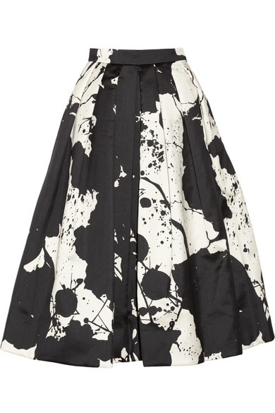 Tibi|Printed silk-gazar skirt|NET-A-PORTER.COM