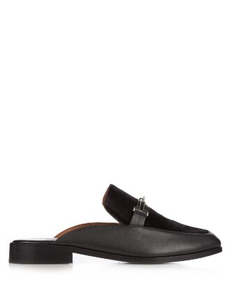 loafers leather black shoes