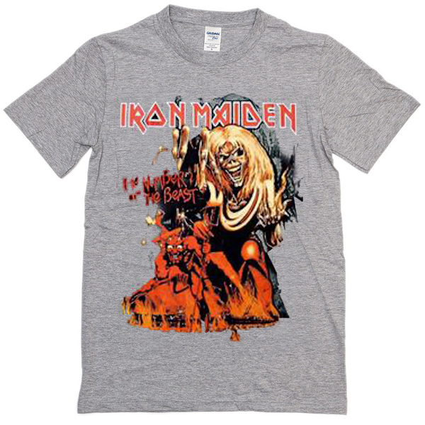 iron maiden the number of the beast T-shirt - Basic tees shop