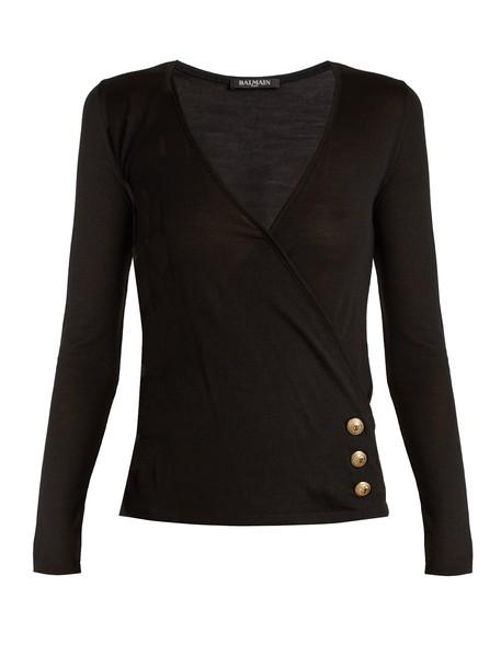 Balmain sweater wool black