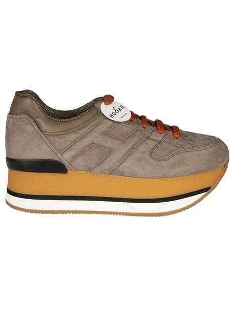 Hogan sneakers platform sneakers brown shoes