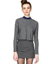 dress,striped dress,grey stripe dress,mock neck dress,pixie market girl,pixie market,two piece dress set,matching separates