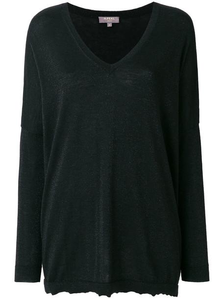 N.Peal jumper glitter women black sweater
