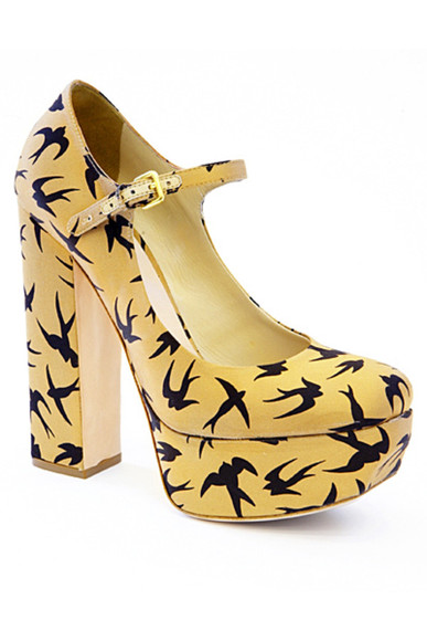 miu miu shoes yellow