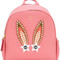 Mcm - polke star bunny studded backpack - women - leather - one size, pink/purple, leather