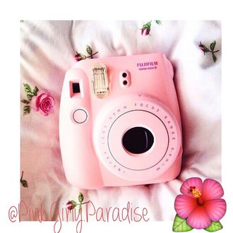 home accessory polaroid camera photography pink girly