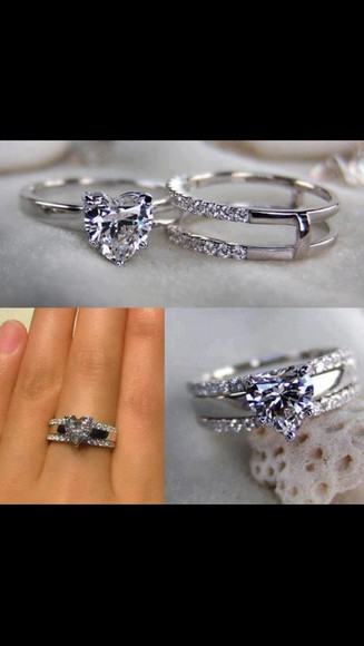 jewels wedding clothes heart ring purple heart ring